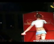 Slutty redhead babe dances dirty part2