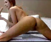Horny young woman on webcam masturbates