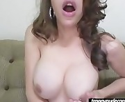 busty shemale jerking on cam