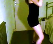 Amateur brunette strips and dances on webcam