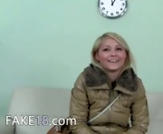 Shy blonde first time on hidden camera