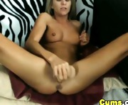 Blonde Teen Masturbating with Huge Dildo