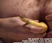 Gay Anal Banana Stuffing on Webcam Vegetable Insertion
