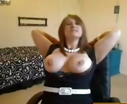 Blond Babe Show Her Big Boobs