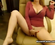 Girl with big tits masturbating