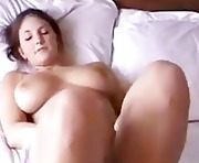 From Yipporn.com Busty brunette tries 3 fingers