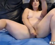 Brunette toying her asshole and pussy on web cam