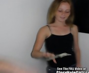 Red Head Teen Sucking Off Glory Hole Penis!