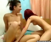 Teen cuties fucking with strapons