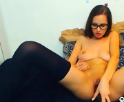 Vibrator on her Clit and Dildo inside her Pussy