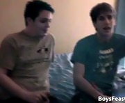 Straight teen guy in hot gay threesome part1