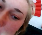 Blonde teen takes 2 loads in her mouth