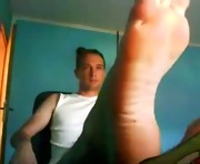 Straight guys feet on webcam #189