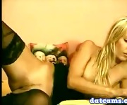 Very Hot Blonde in Black Lingerie Masturbating Live on Webcam datcams.com