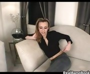 Horny slut fucking huge dildo part5