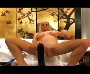 Big Tits Blonde MILF Fucks Huge Toy