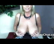 Hot blonde mama with big tits